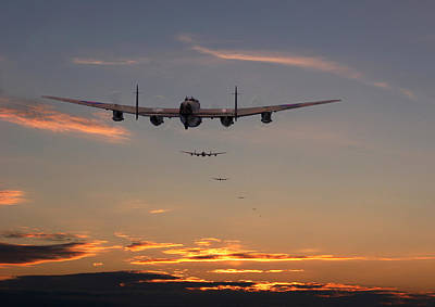 Lancaster - At The Going Down Of The Sun... Poster by Pat Speirs