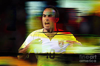 Landon Donovan Poster by Marvin Blaine