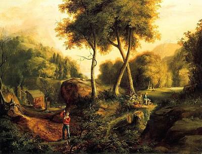 Poster featuring the painting Landscape - 1845 by Thomas Cole