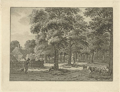 Landscape At Muiderberg, Jan Evert Grave Poster