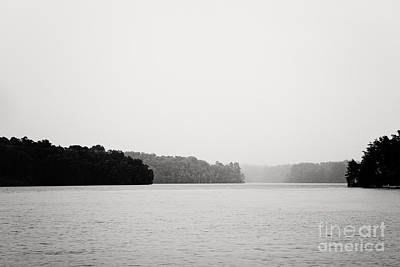 Landscape Black And White Fog Poster