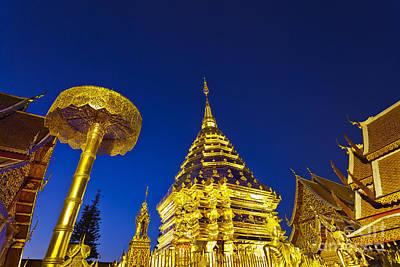 Landscape Of Big Pagoda Poster by Anek Suwannaphoom