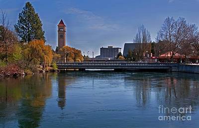 Poster featuring the photograph Landscape Of Spokane Wa Riverfront Park  by Valerie Garner