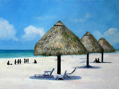 Landscape-the Beach Poster by Anny Huang