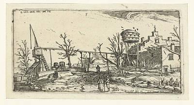 Landscape With A Brewery, Esaias Van De Velde Poster