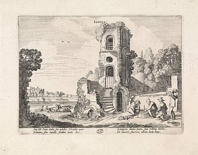 Landscape With A Ruined Tower June, Jan Van De Velde II Poster by Jan Van De Velde (ii)