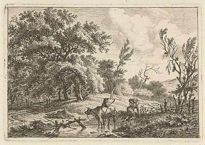 Landscape With Bull And Herdsman, Hermanus Fock Poster by Artokoloro