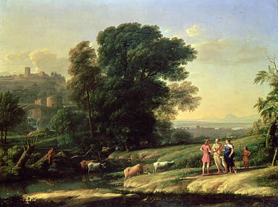 Landscape With Cephalus And Procris Reunited By Diana, 1645 Oil On Canvas Poster