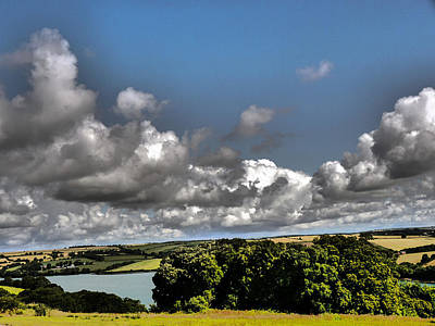 Landscape With Clouds Poster by Winifred Butler
