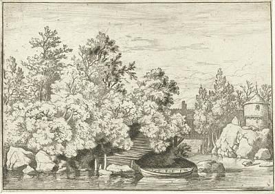 Landscape With Covered Bridge, Allaert Van Everdingen Poster