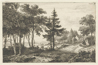 Landscape With Fir Tree And Horseman. Print Maker Pieter Poster by Artokoloro