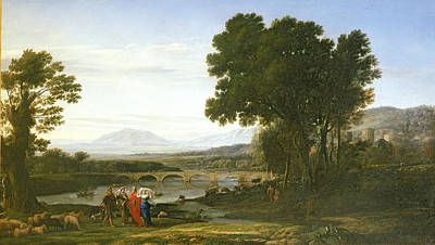 Landscape With Jacob And Laban And Labans Daughters, 1654 Poster by Claude Lorrain