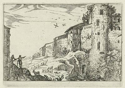 Landscape With Roman Ruins, Willem Van Nieulandt II Poster