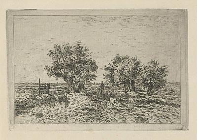 Landscape With Shepherd, Jan Van Lokhorst Poster by Jan Van Lokhorst