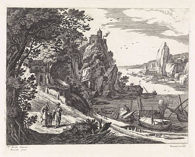 Landscape With The Expulsion Of Hagar And Ishmael Poster by Willem Van Nieulandt (ii)