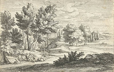 Landscape With Tomb, Adriaen Frans Boudewyns Poster