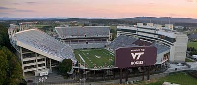 Lane Stadium At Virginia Tech Poster