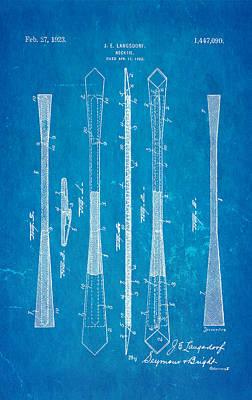 Langsdorf Necktie Patent Art 1923 Blueprint Poster by Ian Monk