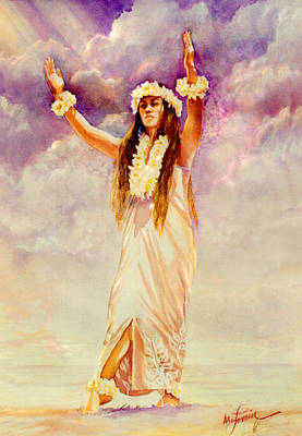 Lani Hula Poster by Mary Lovein
