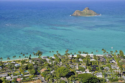 Poster featuring the photograph Lanikai Beach by Gina Savage
