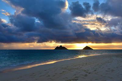 Lanikai Beach Sunrise 3 - Kailua Oahu Hawaii Poster