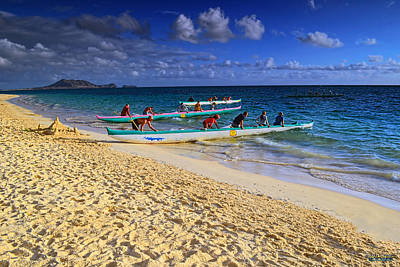Poster featuring the photograph Lanikai Catamarans In The Morning by Aloha Art