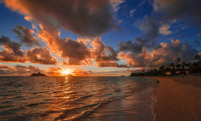Lanikai Sunrise Poster by RC Pics