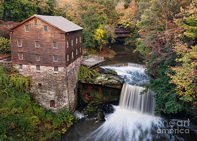 Lanterman's Mill In The Fall Poster