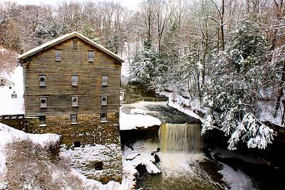 Lanterman's Mill In Winter Poster