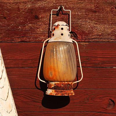 Lantern On Red Poster