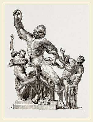 Laocoon In-thecoils Of Snakes Poster by Litz Collection