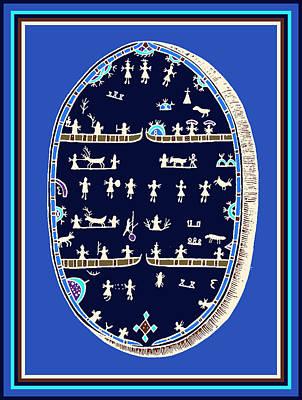 Lappish Shaman's Ritual Drum Poster by Vagabond Folk Art - Virginia Vivier