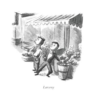 Larceny Poster by William Steig