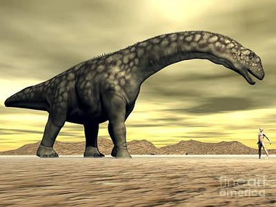 Large Argentinosaurus Dinosaur Face Poster