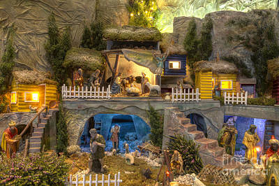 Large Christmas Nativity Scene Poster by Bart De Rijk