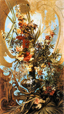 Large Flower Piece  Poster by Hans Makart