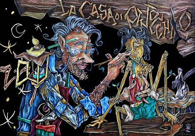 Las Aventuras De Pinocho Y Gepeto - Libri Illustrati Per Bambini Poster by Arte Venezia