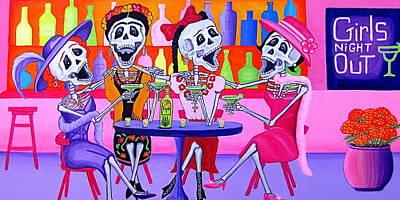 Las Borrachitas Poster by Evangelina Portillo