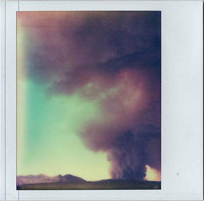 Las Conchas Fire On Instant Film Poster by Julie VanDore