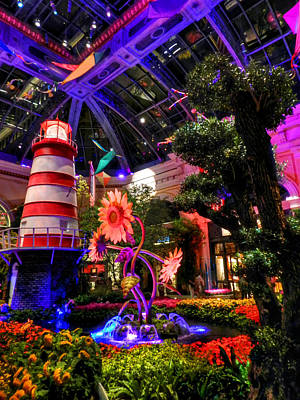 Las Vegas - Bellagio Conservatory And Botanical Gardens Poster by Lance Vaughn