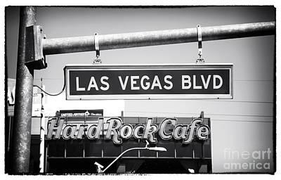 Las Vegas Blvd Poster by John Rizzuto