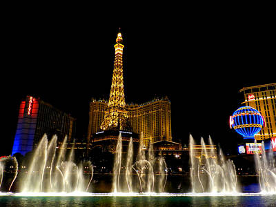 Las Vegas - Paris Hotel And Casino 001 Poster by Lance Vaughn
