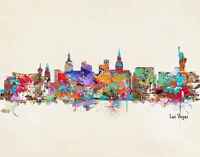 Las Vegas Skyline Poster by Bri B