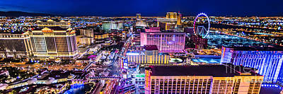 Las Vegas Strip North View 3 To 1 Aspect Ratio Poster by Aloha Art