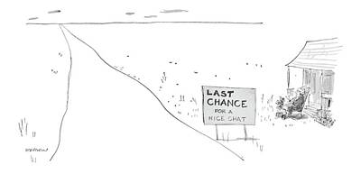 'last Chance For A Nice Chat' Poster by James Stevenson