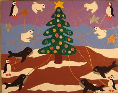Poster featuring the painting Last Christmas by Erika Chamberlin