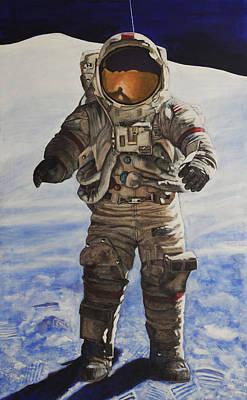 Last Man - Apollo 17 Poster by Simon Kregar
