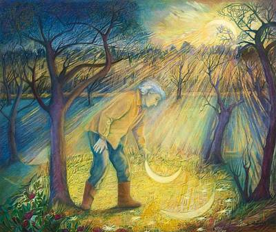 Last Night In The Orchard, 2012 Mixed Media Poster by Silvia Pastore