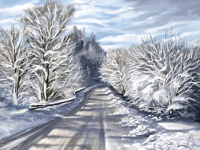 Last Snow Series N1 Poster by Veronica Minozzi