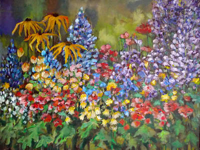 Poster featuring the painting Last Summer's Flowers by Irena Mohr